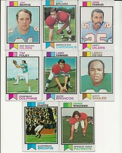 (8) Different 1973 Topps Purdue University Boilermakers Football Alumni Cards