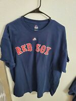 "Majestic Men's Boston Red Sox #24 Ortiz S/S T-Shirt Size 2XL(48""Chest/29""L) Navy"