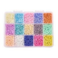 Glas Spacer Perlen für Schmuck Machen 3mm Kleine Lose Perlen 7500pcs