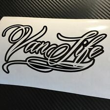 BLACK Van Life Decal Sticker Camper Van Caravan Camping VDUB Transit Caddy T4 T5