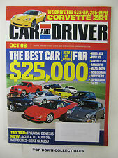 Car and Driver Magazine   October  2008     Best New Or Used Car For $25,000