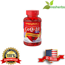 ABSORBABLE COQ10 50MG REDUCE CARDIAC RISK HEART BLOOD AID SUPPLEMENT 200 CAPS