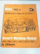 HAYNES MINI 1959 on COOPER & S,CLUBMAN & GT, ELF, HORNET WORKSHOP SERVICE MANUAL