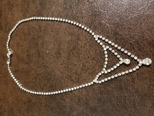 "Rhinestone Necklace, 14"", made in Korea"