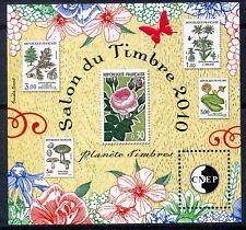 TIMBRE FRANCE NEUF BLOC FEUILLET C.N.E.P.  N° 56 ** SALON DU TIMBRE 2010 / FLORE