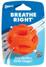 Chuckit Breathe Right Dog Ball Dog Toy Orange Fetch Ball MEDIUM Breath Ball