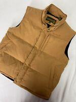 Timberland Mens Full Zip & Button Duck Down Puffer Vest Size L Premium Wheat