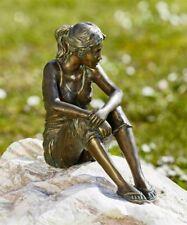 Bronzefigur Mädchen Carina 25cm Gartenfigur Bronze Skulptur Rottenecker