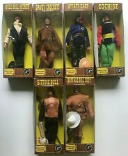 "Retro Mego WESTERN HEROES Complete 8"" Action Figure Lot of 6 MIB CROCKETT-EARP++"