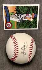 Randy Wells Signed Baseball and Card