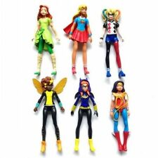 "New DC Super Hero Girls 6"" Figures Model Toy Wonder Woman Supergirl 6 PCS Set"