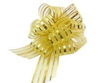 Nastri e fiocchi in oro in tessuto per il matrimonio