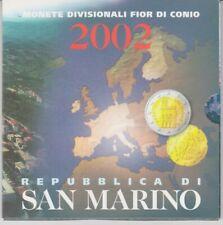San Marino  KMS  2002  Monete Divisionale Fior Di Conio   OVP