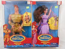 Disney Golden Glow HERCULES & Fashion Secrets MEGARA Dolls Mattel 1996 NEW