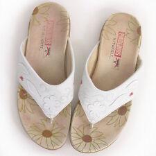 Geblümte Damen-Sandalen & -Badeschuhe aus Echtleder für die Freizeit