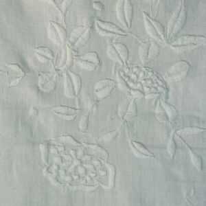 Vintage hand embroidered fine Irish linen tablecloth floral superior quality