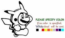 "Mario Pikachu crossover Graphic Die Cut decal sticker Car Truck Boat Window 6"""