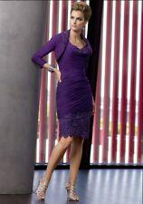 Chiffon Applique Knee-Length Mother Of The Bride Evening Dress Purple/Eggplant