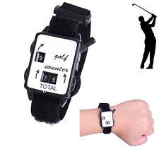 Black Golf Wrist Score Counter Wristband Keeper Watch Putt Shot Scorer Golfs