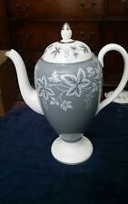 Wedgwood MOSELLE GRAY Coffee Pot