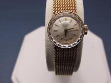Vintage 18k Solid Yellow Gold 17 Jewel Universal Geneve Ladies Watch 26 Grams