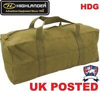 "HIGHLANDER HEAVY DUTY TOOL BAG 18"" 45cm MILITARY OLIVE GREEN OG ARMY KIT STYLE"