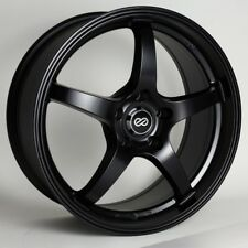 18x8 Enkei VR5 5x112 +45 Black Rims Fits VW cc eos golf rabbit