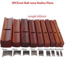 9PCS/set Bull-nose Radius Plane woodwork Carpenter wood tool convex planes W186