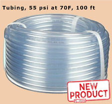 Clear Plastic Tubing 100 Ft Roll 14 Inch Inside Dia X 38 Outside Dia Flexible