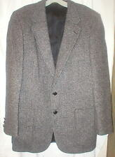 "HALSTON gray wool tweed sports coat  40"" chest EC"