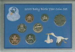 New Born Baby Boy Coin Gift Set 2005 (Parent Mum & Dad Birth Keepsake Present)