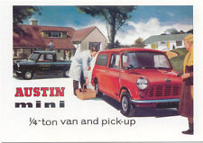 Austin Mini Van and Pick Up MODERN postcard issued by Vintage Ad Gallery
