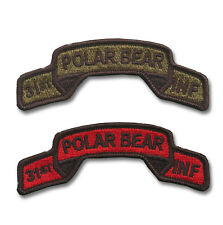 31st Infantry Regiment Embroidered Tabs - POLAR BEARS - WWII Vietnam - OIF - OEF