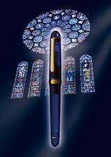 Platinum #3776 CENTURY F (Fine) nib (CHARTRES BLUE) 14k fountain pen