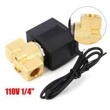 For Control Automatically Air Water Oil Flow Electric Solenoid Brass Valve 14
