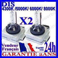 2 AMPOULES D1S 35W 12V LAMPES DE RECHANGE REMPLACEMENT FEU XENON KIT HID 6000K