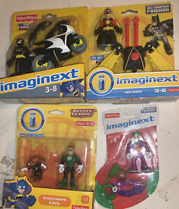 Fisher Price Imaginext Lot Of 4Justice League Green Lantern, Red Robin, Batman