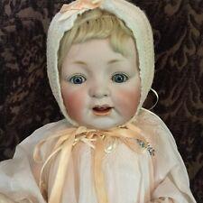 Antique German Bisque JDK # 226 Baby Doll  Antique Gown & Bonnet