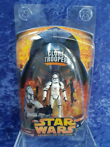 2005 Star Wars ROTS Clone Trooper Target Exclusive MOC With Protective Case