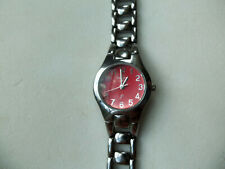 Fossil F2 Women's Watch~ES-9306~Stainless Steel Band & Case~New Battery~ + link