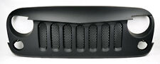 Angry Bird Style Mesh Matte Black Front Hood Bumper Grill Fits Jeep Wrangler 07+