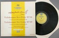 O948 Mozart Violin Concertos Schneiderhan Rosbaud Leitner DGG LPM 18 314 Tulip
