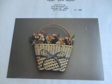 "Basket Weaving Pattern Only ""Bow Door Basket"""
