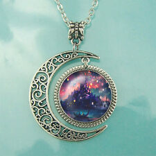 Tangled the lights necklace Disney jewelry Moon pendant Best Friend Gift BFF