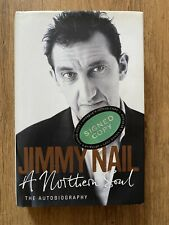 JIMMY NAIL HAND SIGNED AUTOGRAPH NORTHERN SOUL BOOK AUF WIEDERSEHEN PET TV SHOW