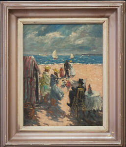 """Joaquin Sorolla Y Bastida (1863 - 1923) NY/Spain Artist """"Beach Scene"""""""