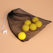 Black Nylon Mesh Net Bag Golf Tennis 40 Balls Carrying Drawstring Storage Pouch