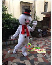 2019 White Snowman Mascot Costume Cosplay Frozen Parade Xmas Party Adult Dress #