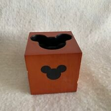 Disney Parks Resorts Mickey Mouse Candle Holder Tea Light Wood Block Square