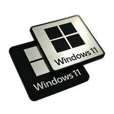 Windows 11 Sticker Case Badge Decal / TWO (2) Emblems - for Microsoft Windows 11